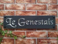 Engraved slate house sign – 500mm x 125mm; 19.7 inches x 4.9 inches